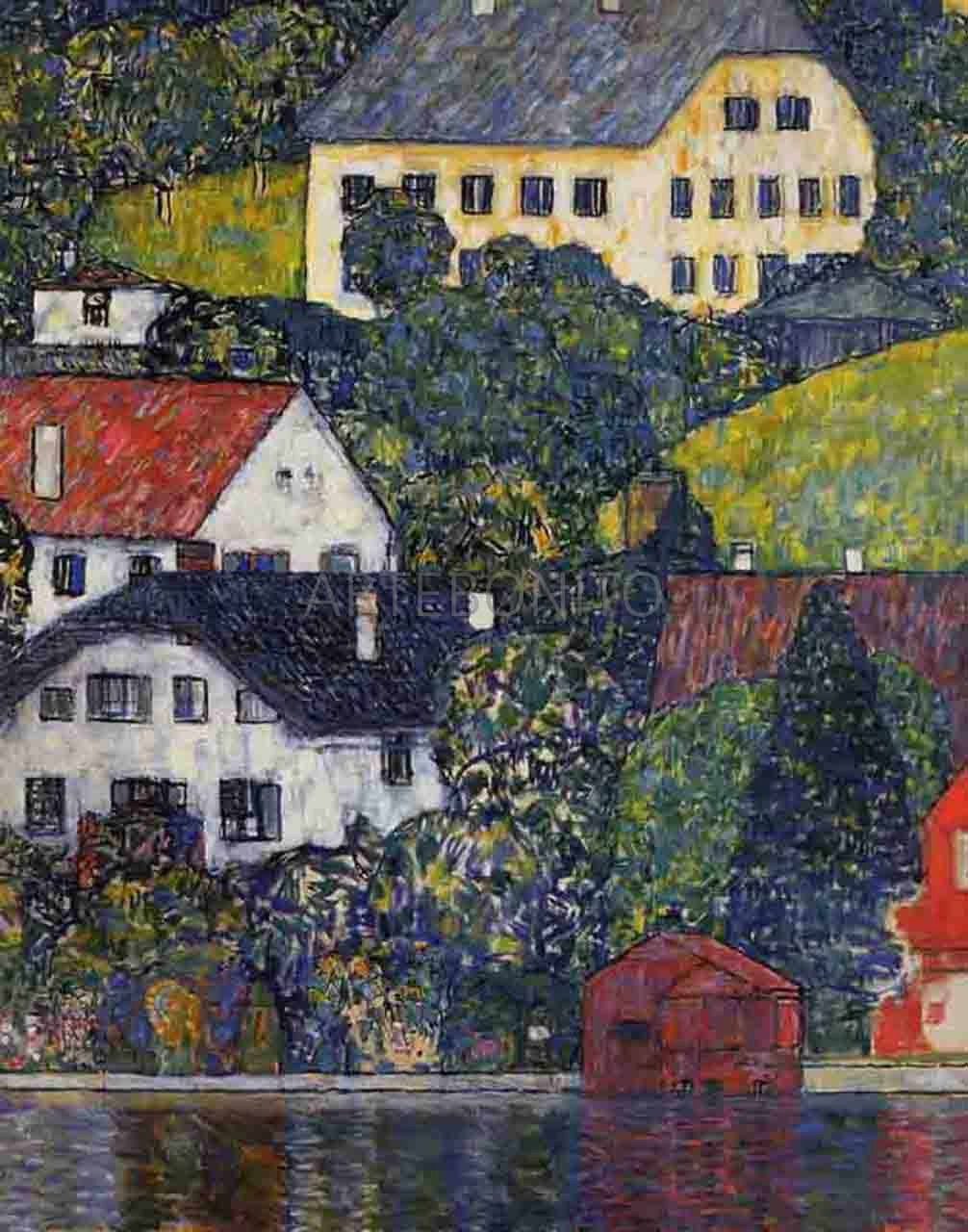 Klimt, Houses on Unterach, Limited Edition Giclee