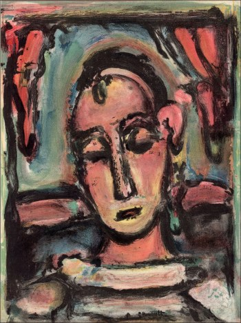 Georges Rouault, Lithograph Head of Girl, Revue Verve 1939