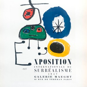 Miro Lithograph 50, Miro Art Graphique, Art in Posters