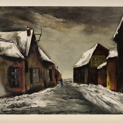 "Vlaminck 26 ""Alainville under snow 1946"" 1958"