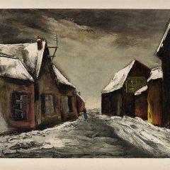 "Vlaminck 26 ""Alainville under snow 1946"" 1958"