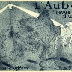 "Lautrec Lithograph 25 ""L'aube revue illustree"""
