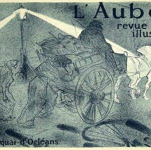 """Lautrec Lithograph 25 """"L'aube revue illustree"""""""