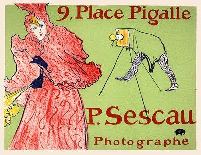 """Lautrec lithograph 15 """"Sescau photograph"""" 1966"""