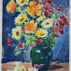 "William McDeymitt ""Flowers Bouquet"" Acrylic"