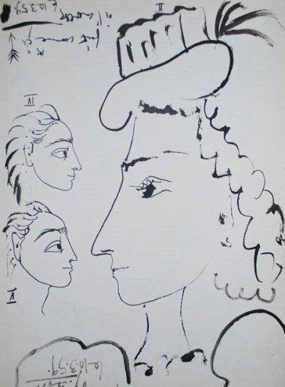 Picasso Toros y toreros 4- 5 dated 10/3/59
