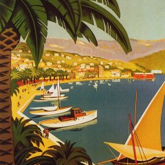 "Poster ""Bandol"" L.E Giclee printed on watercolor paper"