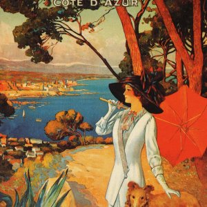 Poster, Antibes, Giclee on watercolor paper