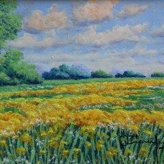 """Otto Campagnari """"Paesagio 1"""" Original Oil Painting"""