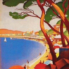 """Poster """"Ete sur la cote d'Azur"""" Giclee"""