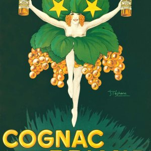 Poster, Cognac Briand, Giclee on watercolor paper