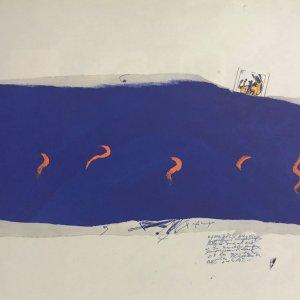 Antoni Tapies print DM01207, Derriere le miroir 1974