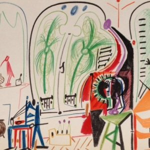 Picasso Sketchbook Lithograph No 5, dated 8/11/1955