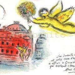 """Marc Chagall """"Homage a Garnier"""" Lithograph for Paris Opera 1966"""