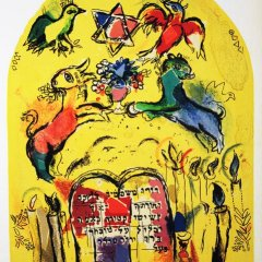"Marc Chagall Lithograph ""Levi"" Jerusalem windows 1962"