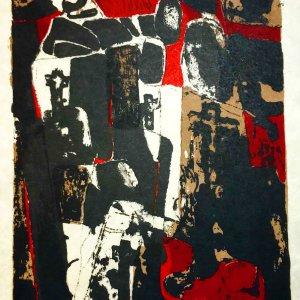 Paul Guiramand, Lithograph 1962, Untitled 4