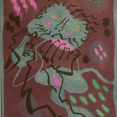 "Andre Masson ""6"" Original Lithograph 1962, Mourlot"