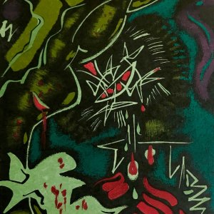 "Andre Masson ""7"" Original Lithograph 1962, Mourlot"