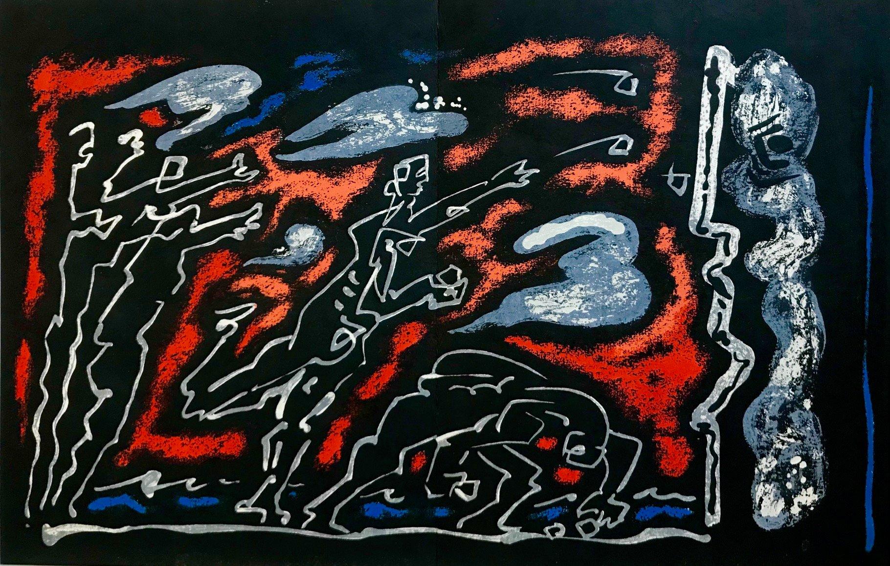 "Andre Masson ""10"" Original Lithograph 1962, Mourlot"