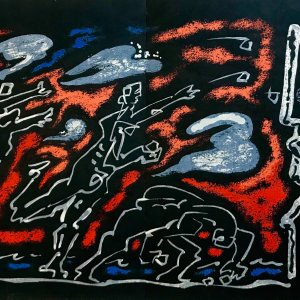 Andre Masson Original Lithograph, Untitled 10