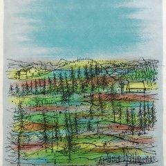 """Jean Carzou """"11"""" Original Lithograph 1962 Mourlot"""