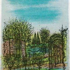 """Jean Carzou """"14"""" Original Lithograph 1962 Mourlot"""