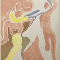 "Andre Beaudin ""3"" original  Lithograph 1961, Mourlot"