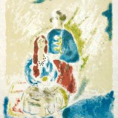 """Jules Cavailles """"13"""" Original Lithograph 1962, Mourlot"""