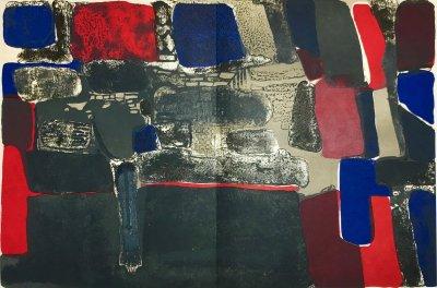 Paul Guiramand 1,Original Lithograph 1962 Mourlot