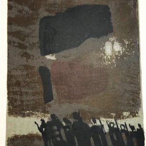 Paul Guiramand, Lithograph 1962, Untitled 7