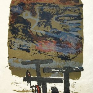 Paul Guiramand, Lithograph 1962, Untitled 9