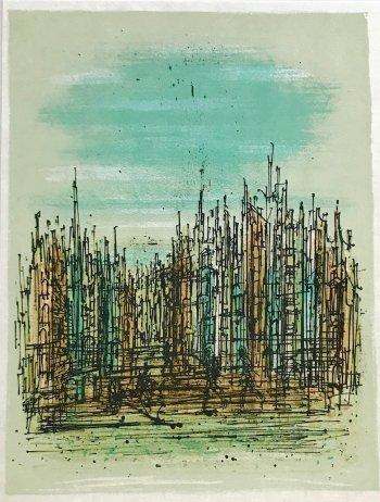 Jean Carzou Original Lithograph 2, Mourlot 1962