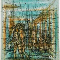 """Jean Carzou """"6"""" Original Lithograph 1962 Mourlot"""