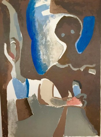 "Francisco Bores ""3"" Original Lithograph 1961 Mourlot"