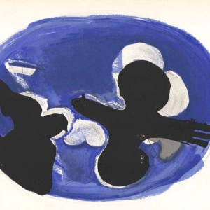 Braque lithograph flying birds