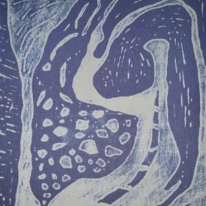 Dominique Labauvie, Lithograph N8-3, Noise 1988