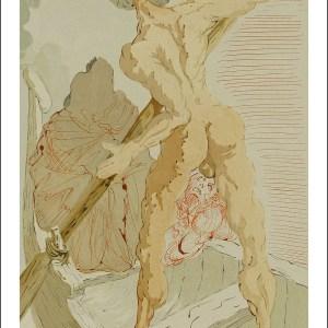 Dali Woodcut, Charon & the passage of Acheron-Hell 3