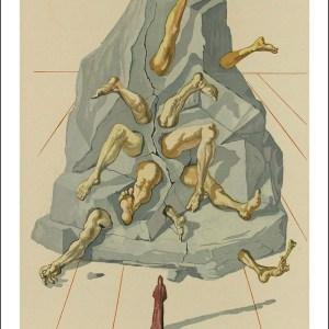 Dali divine comedy, Hell 19 - The Simonists