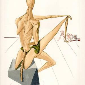 Salvador Dali Original Woodcut, Minos - Hell 5