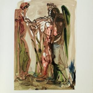 Salvador Dali Woodcut, Proud ones - Purgatory 11