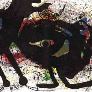 Joan Miro, Original Lithograph DM02203d, Sobreteixims 2, 1973