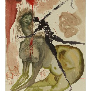Dali woodcut, Hell 12 - The_minotaur