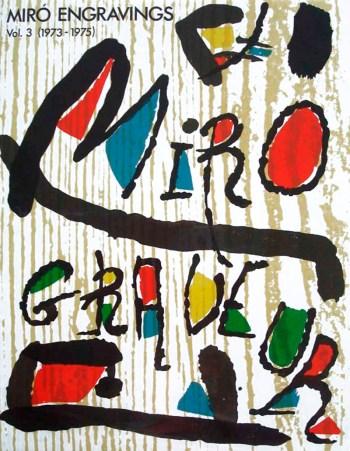 Joan Miro, Original Woodcut vol 3c, 1980