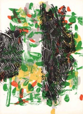 Riopelle Original Lithograph DM05171, Derriere le Miroir