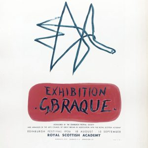 Braque Lithograph 9, Braque Exhibition, Art in posters