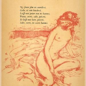 Pierre Bonnard Lithograph 169, Parallelement 1952