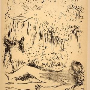 Bonnard Lithograph 175, Crepuscule des Nymphes