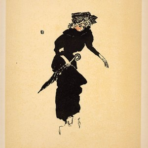Title: Femme au parapluie Artist: Pierre Bonnard Country: France Medium: Lithograph - 63 Marks: Not signed not numbered Printed: Mourlot, France 1952 Paper Size: Vellum 12.50 x 9.50 inch Provenance: Bonnard Lithographe Book 1952 Condition: Very good Certificate of Authenticity is included