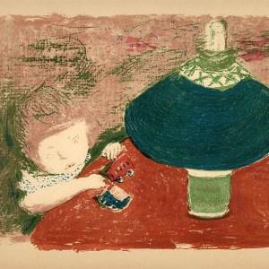 Bonnard Lithograph 83, L'enfant a la lampe 1952