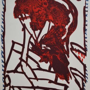 Alechinsky Lithograph N8-2, Noise 1988